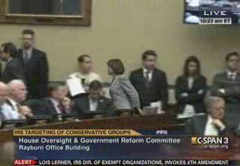 Lois Lerner leaves hearing room after invoking 5th Amendment