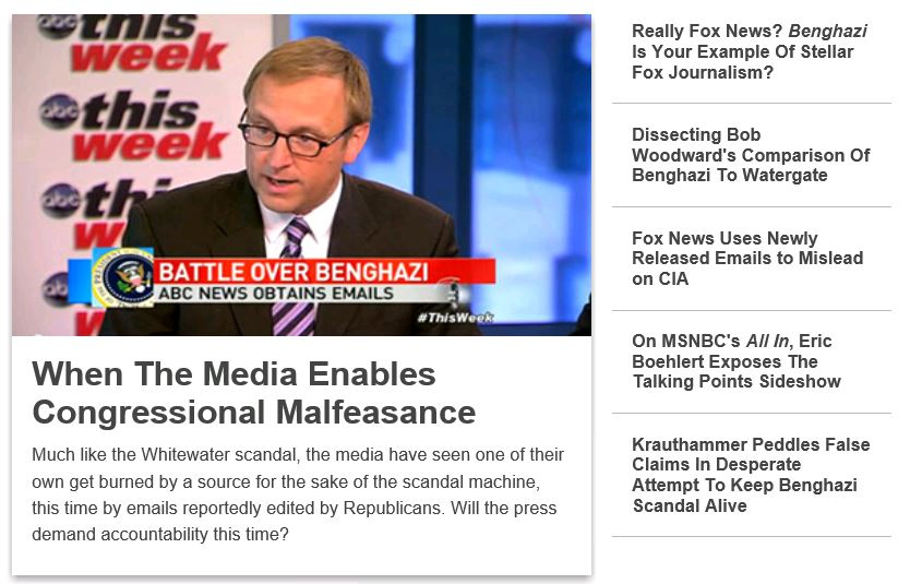 Media Matters Home Page 5-18-2013 917pm