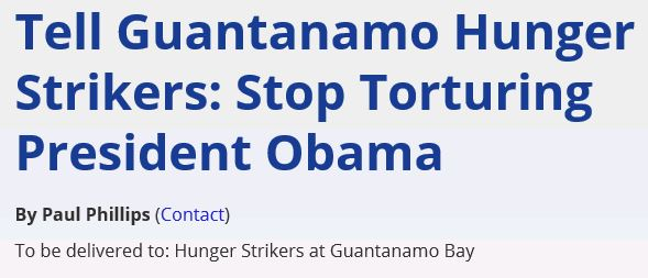 MoveOn Petition Stop Torturing Obama