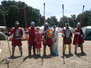 Leslie Eastman with San Diego's Lanciari, costumes by Ovidia 550 AD