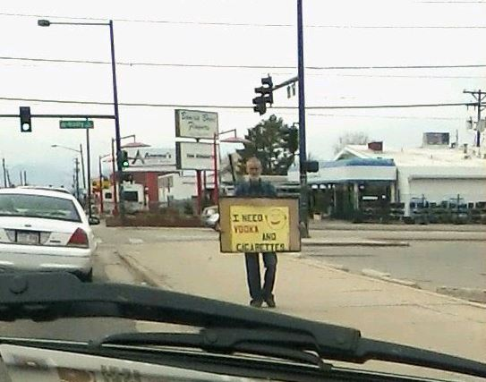 Sign - Denver - Need vodka