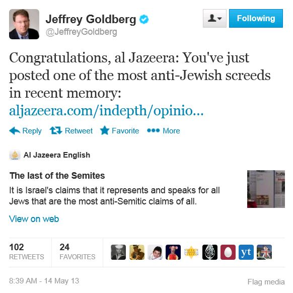 TWitter - @jeffreygoldberg - last of the semites