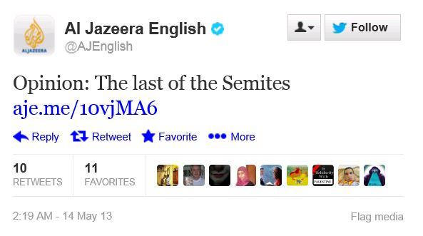 Twitter - @AJEnglish - Last of the Semites