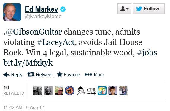 Twitter - @MarkeyMemo - Gibson Guitar