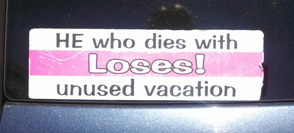 Bumper Sticker - Rhode Island - Unused Vacation