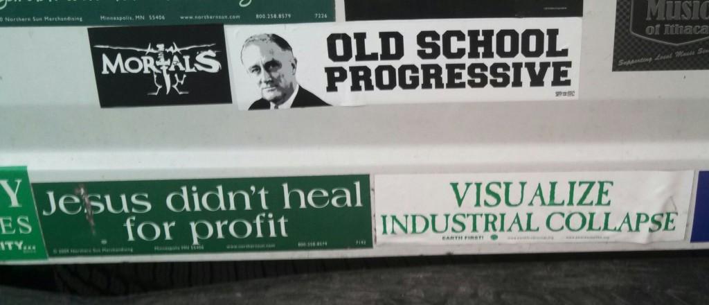 Bumper Stickers - Ithaca - Old School2