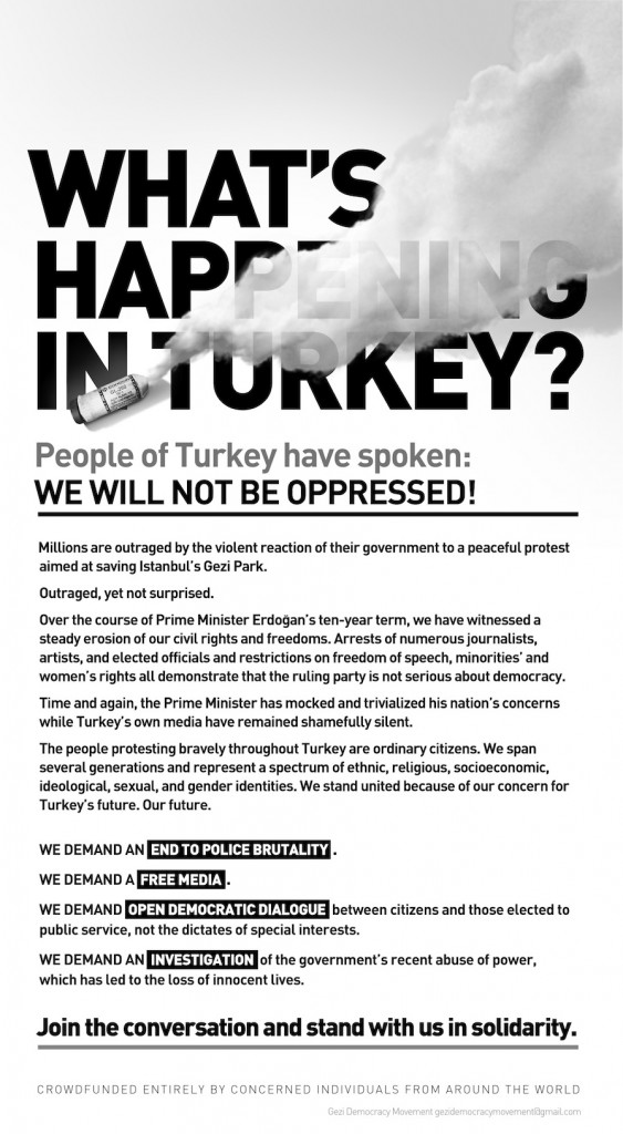 NY Times Advertisement What's Happening in Turkey