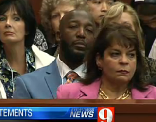 Angela Corey, Special Prosecutor (Tracy Martin is immediately behind her)