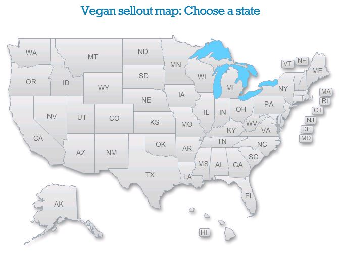 Vegan Sell-Out Map