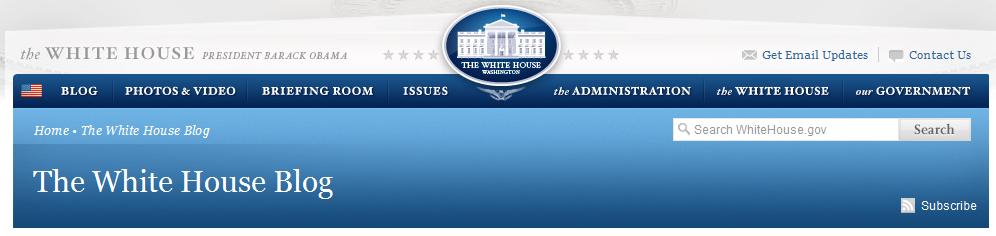 White House Blog Banner
