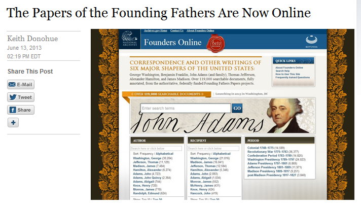 White House Blog Founding Fathers
