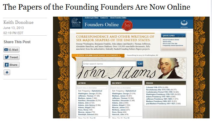 White House Blog Founding Founders