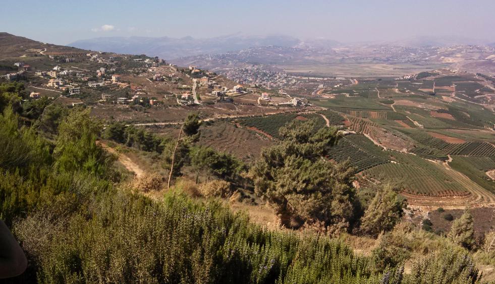 Aadaisse, Lebanon - overlooking Metula