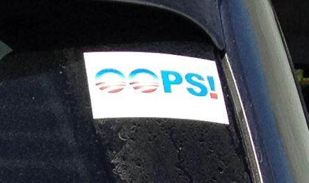 Bumper Sticker - Northern Virginia - Oops close up