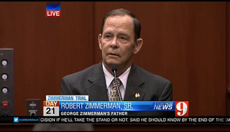 George Zimmerman Father at Trial