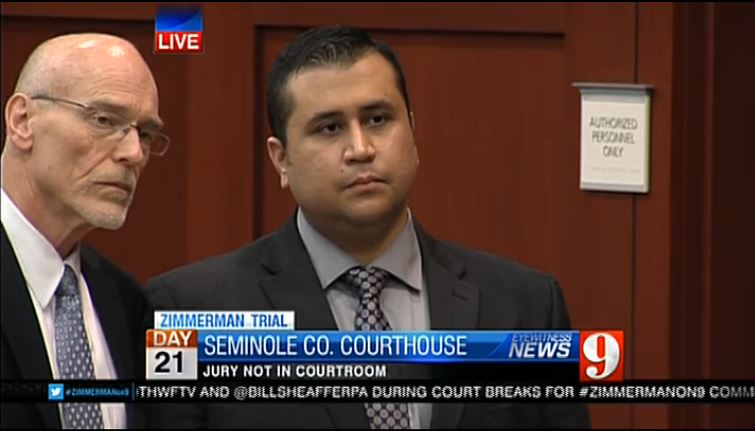 George Zimmerman with Don West stating no more witnesses