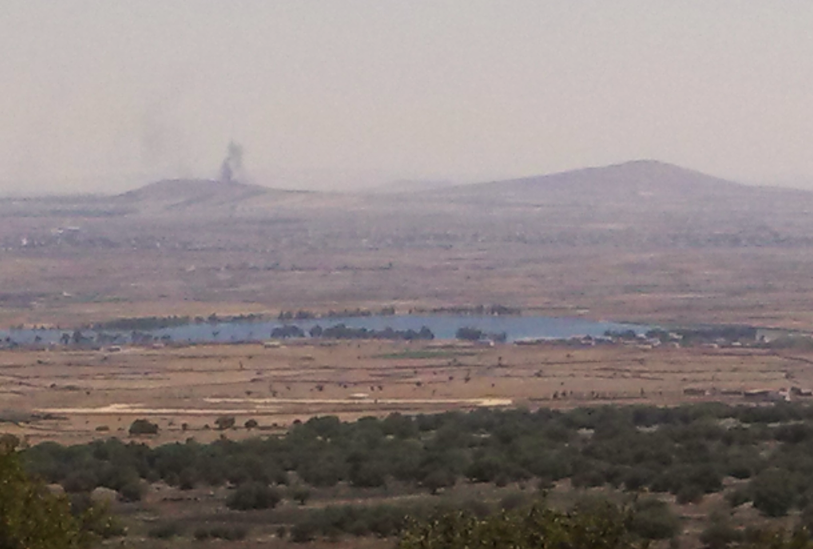 Golan Heights Wind Farm - View of Syria