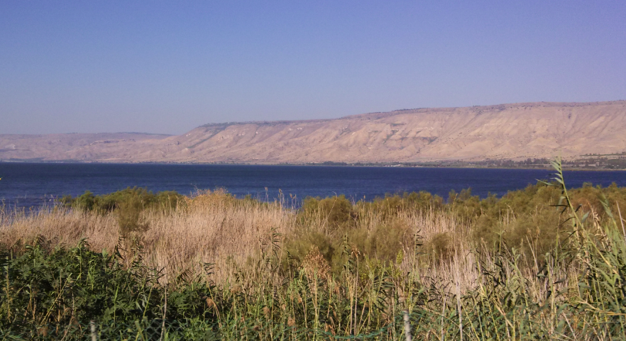 (Golan Heights over Sea of Galilee)