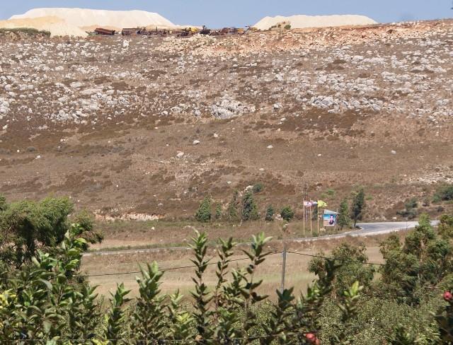 (Hezbollah fortifications overlooking Metula, Israel)(photo Hadar Sela 2013)