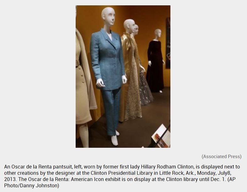 Hillary pants suit exhibit