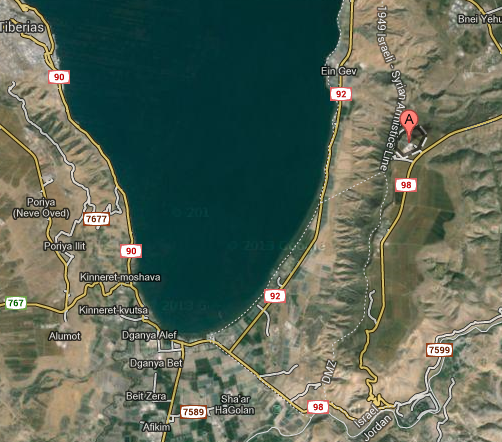 (Kibbutz Kfar Haruv, Israel - Map View)