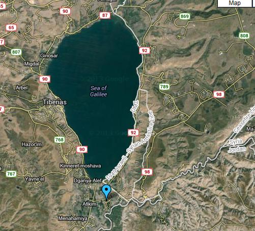 (Kibbutz Sha'ar HaGolan, Israel - Map View)
