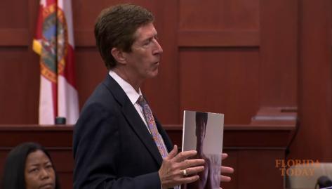 Mark O'Mara shows cell phone photo of Trayvon Martin