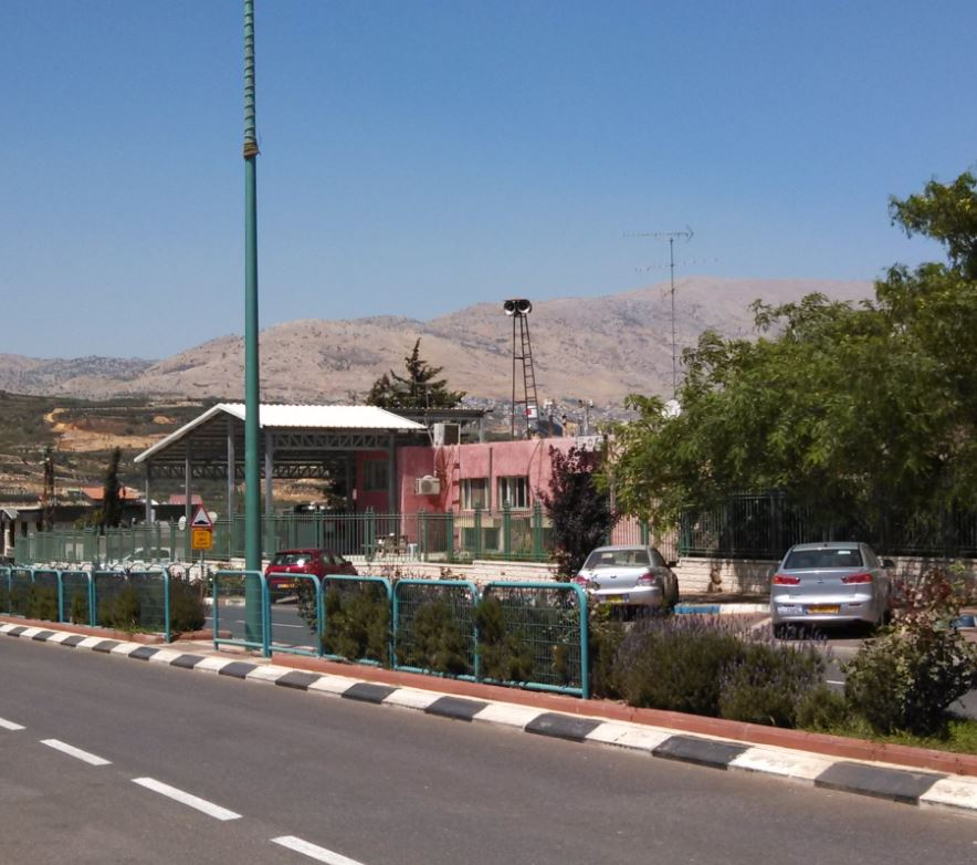 (Mas'ade Druze Village Israel, looking towards Mount Hermon)