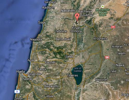 (Metula, Israel - Map View)