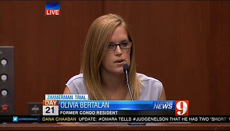 Olivia Bertalan Witness Zimmerman case