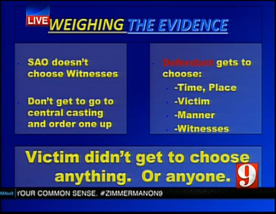 Prosecution closing argument slide evaluating the evidence