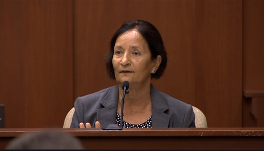 State witness, Medical Examiner Valerie Rao