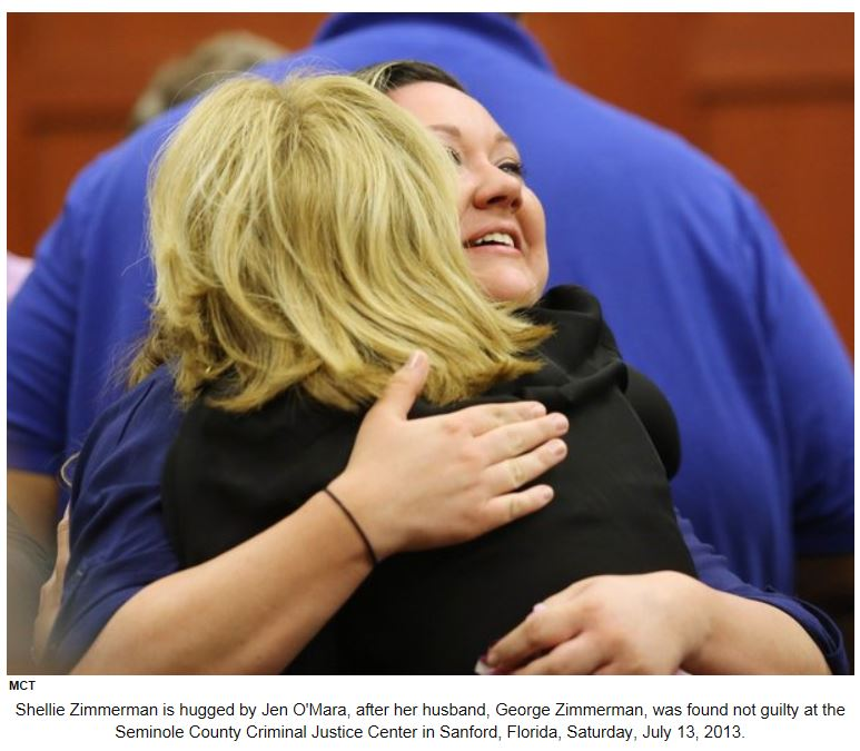 Shellie Zimmerman reacting to not guilty verdict