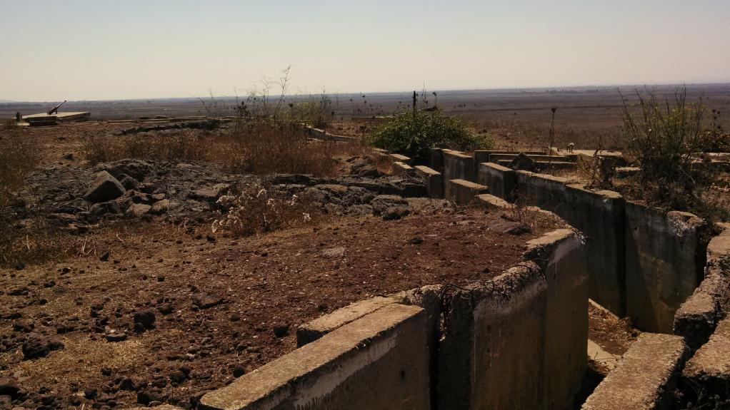 (Tel Saki Battle Memorial, Golan Heights, Israel - Trenches