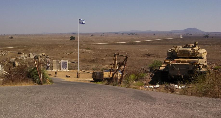 Tel Saki Battle Memorial Golan Heights - View Towards Syria
