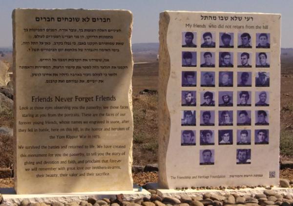 (Tel Saki Battle Memorial Golan Heights, Israel)
