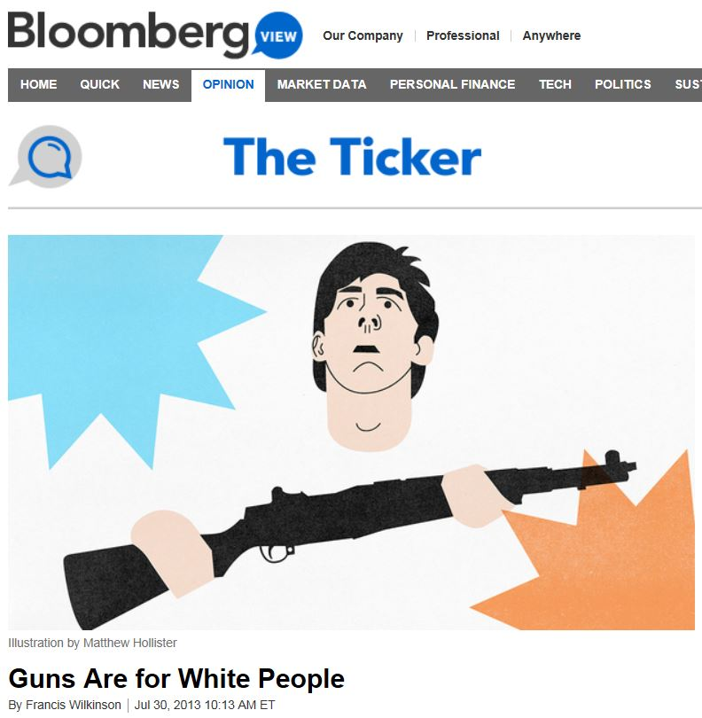 Bloombert News - Guns Are For White People