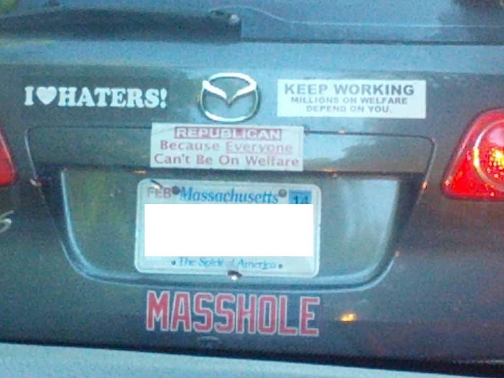 Bumper Sticker - Hopkinton MA - Massholes