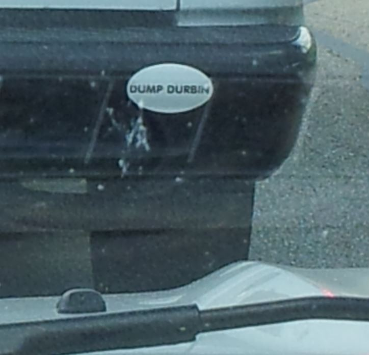 Bumper Sticker - Illinois - Dump Durbin