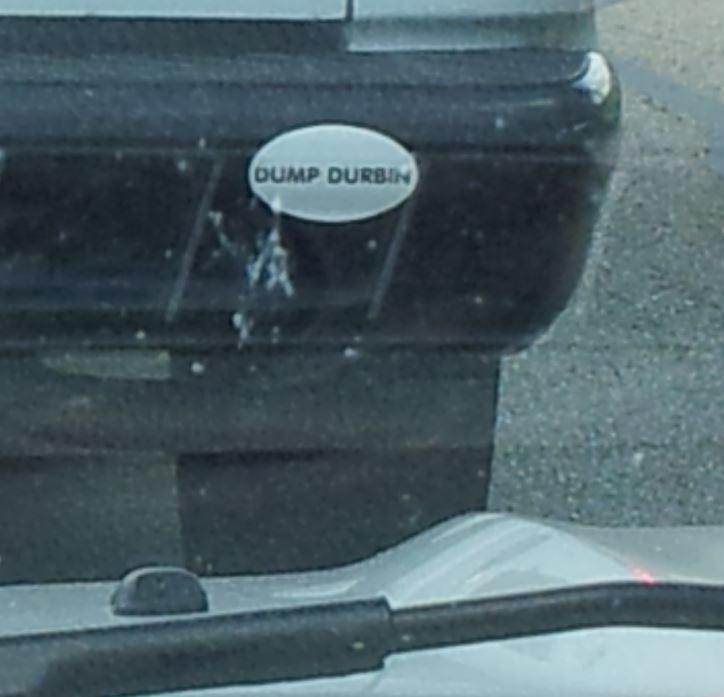 Bumper Sticker - Illinois - Dump Durbin