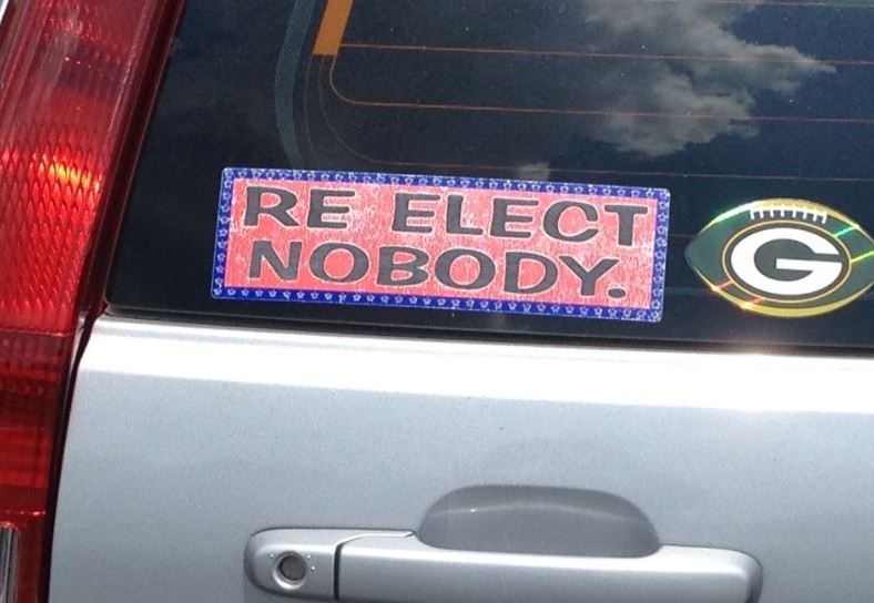 Bumper Sticker - Marietta GA - Re Elect Nobody