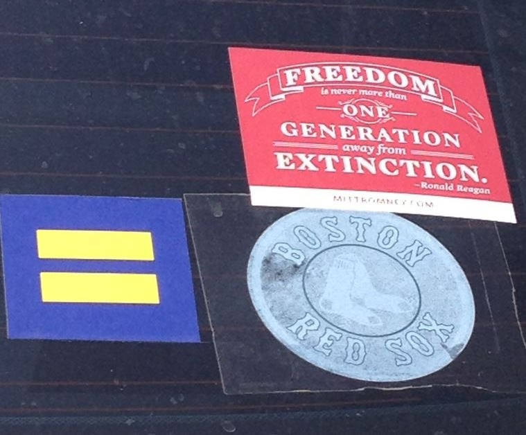 Bumper Sticker - Oak Lawn Dallas - Freedom
