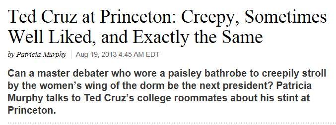 Daily Beast - Ted Cruz Creepy