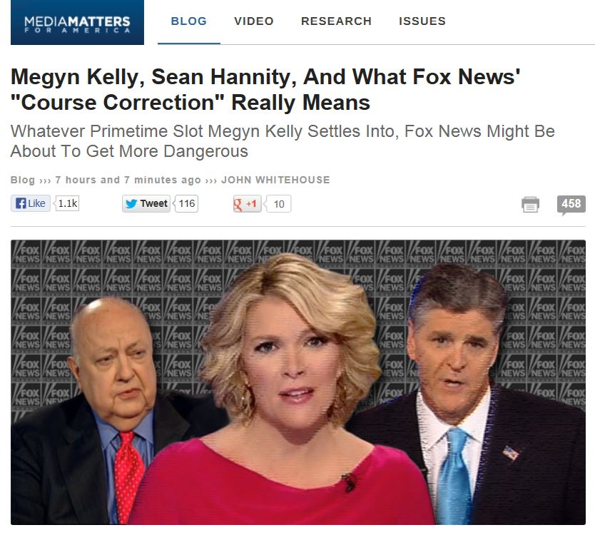 Media Matters - Megyn Kelly replacing Sean Hannity