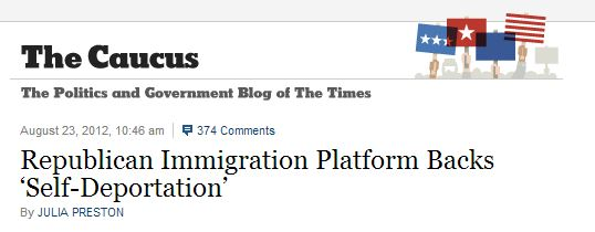 NYT Republican Platform Self-Deportation