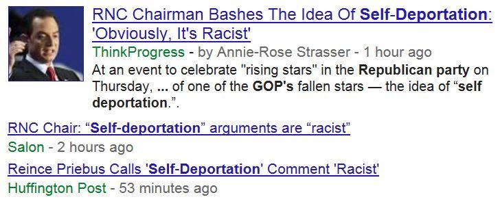 News Headlines Self-Deportation