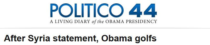 Politico Obama Statement Golf