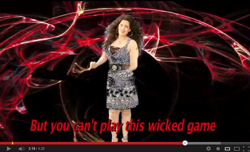 Sama Elmasry anti-Obama video screenshot - you can't play this wicked game