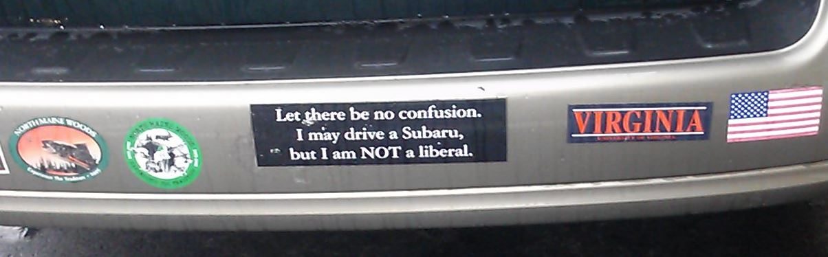 Bumper Sticker - Virginia - Subaru