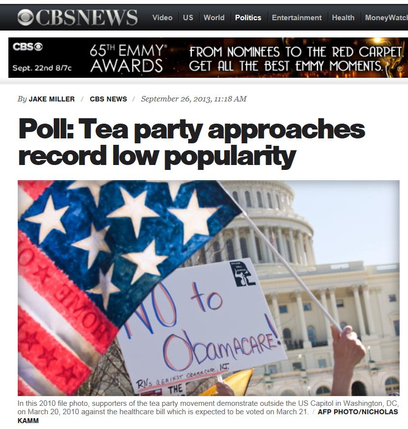 CBS News Gallup Tea Party 9-26-2013